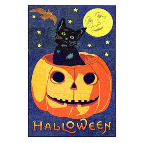 vintage Halloween collaborative art project