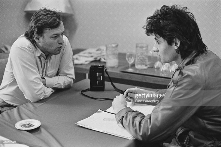 Pink Floyd singer and guitarist David Gilmour is interviewed by journalist David Sinclair for The Times around the release of his solo album 'About Face', UK,1984.