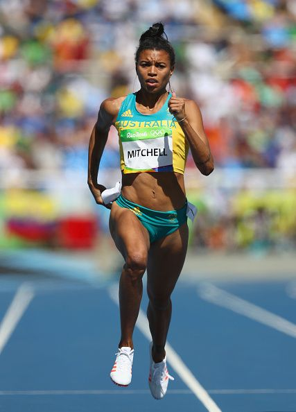 Morgan Mitchell of Australia competes in round one of the Women's 400m on Day 8…