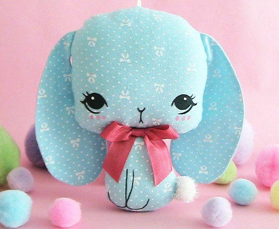 Little Bunnie Plush Ornament Bo by JooSweetie on Etsy, $22.00