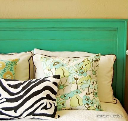 20 Ideas for Making Your Own Headboard/ Handmade headboard at deep thoughts by cynthia
