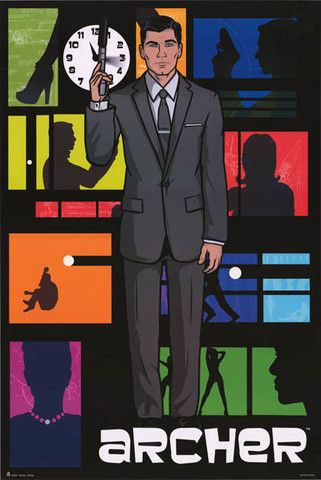 A great poster of Sterling Archer - the funniest spy in the history of espionage...and maybe television too! Fully licensed - 2013. Ships fast. 24x36 inches. Check out the rest of our fun selection of