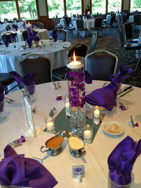 Purple wedding decorations centerpiece favors