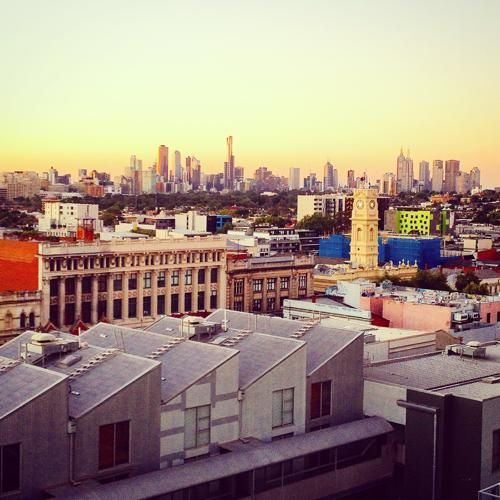 Melbourne city skyline during spring. Such an awesome time of year to be in this city.