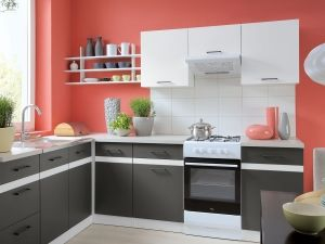 JUNONA LINE kitchen 2. It is an economical solution for those who want to decorate their interiors interesting and inexpensively. #furniture #polish #kitchen