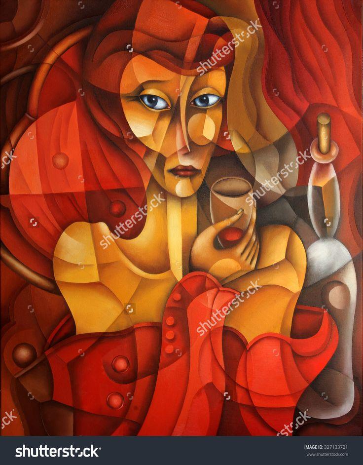 Elegant Woman by Eugene Ivanov, 2003 #eugeneivanov #cubism #avantgarde #cubist #artwork #cubist_artwork #abstract #geometric #association #futurism #futurismo #@eugene_1_ivanov