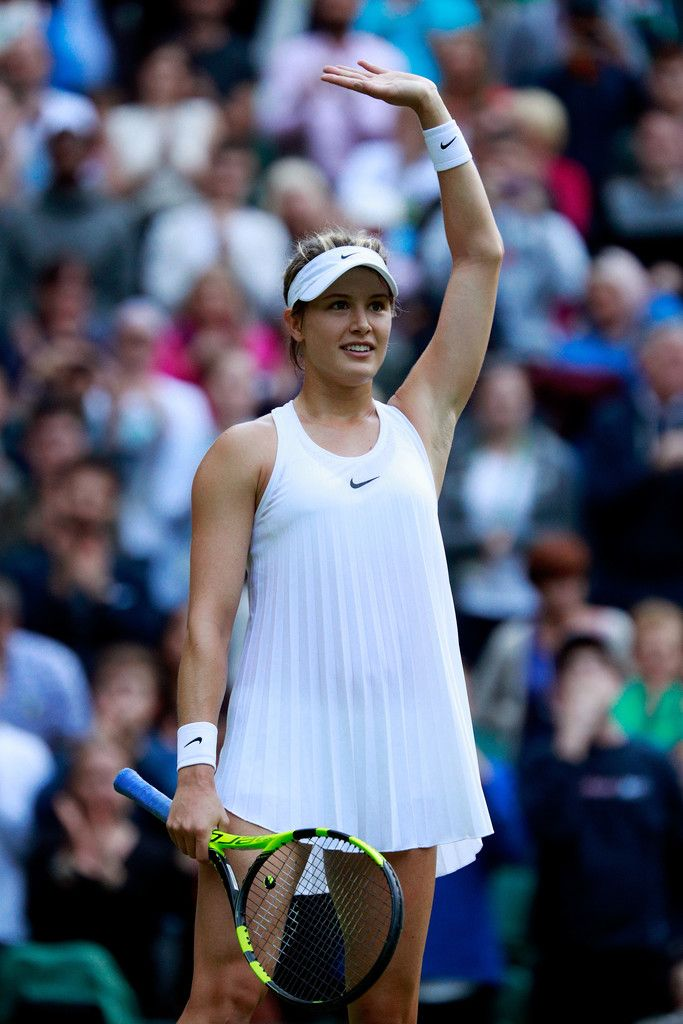Eugenie Bouchard of Canada celebrates victory during the Ladies Singles second round match against Johanna Konta of Great Britain on day four of the Wimbledon Lawn Tennis Championships at the All England Lawn Tennis and Croquet Club on June 30, 2016 in London, England. (Source: Adam Pretty/Getty Images Europe)