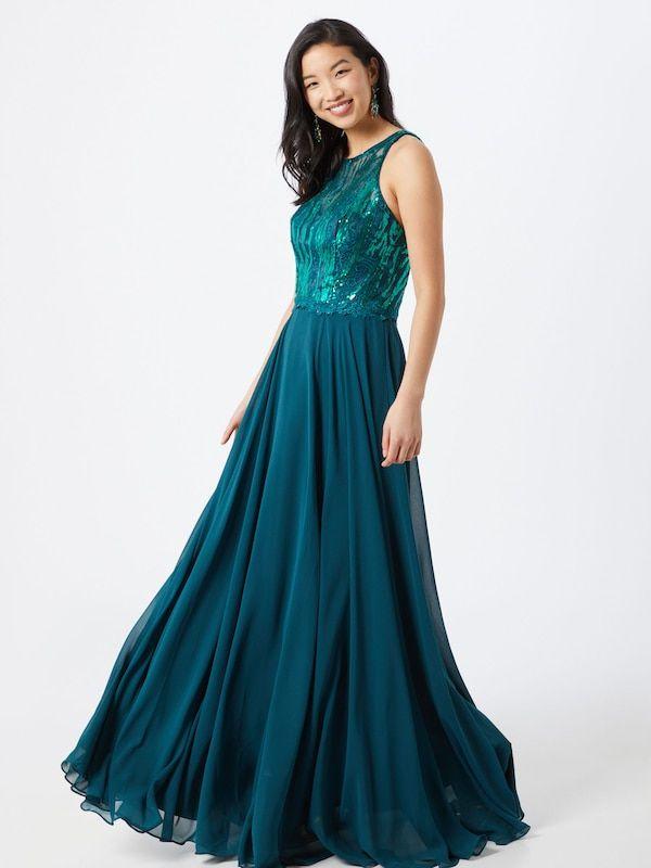 Mascara Abendkleid In Blau About You Abendkleid Kleider Langes Abendkleid