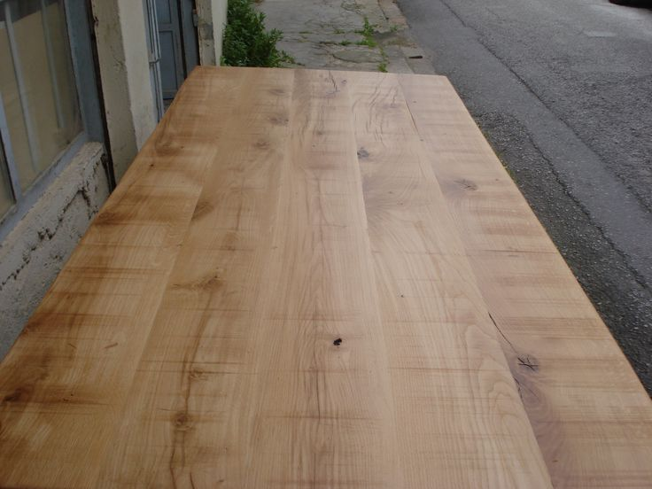 Solid wood rustic dining table.