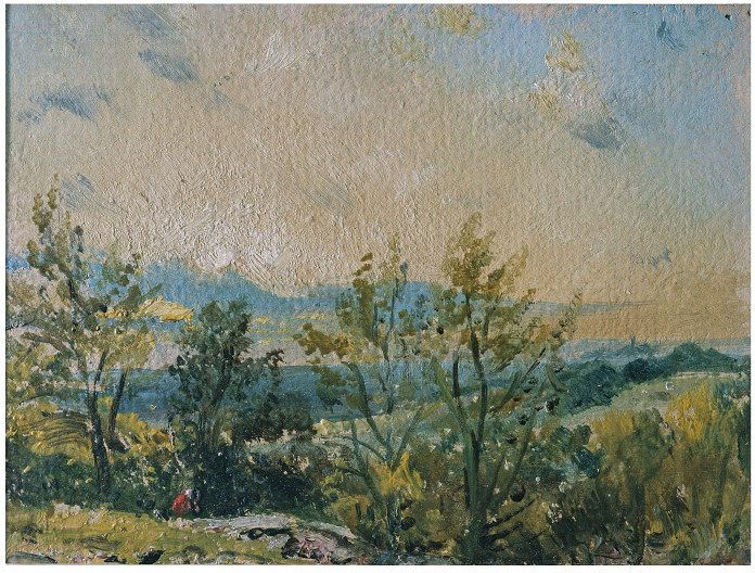 Sketch at Hampstead: stormy sunset, John Constable, 1820