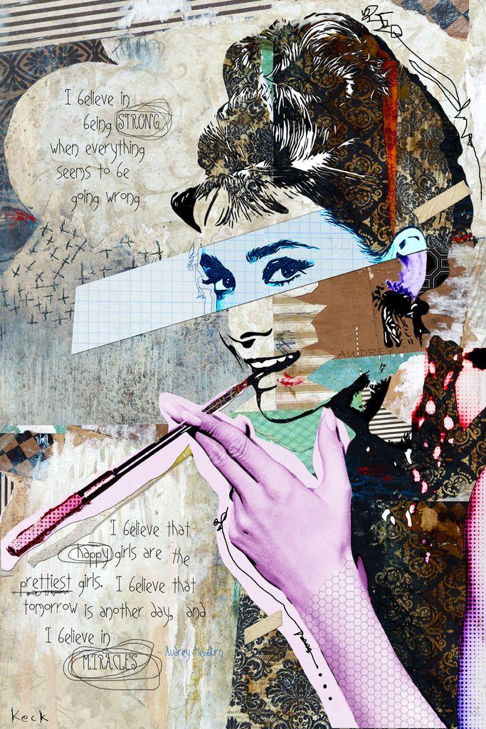 Audrey Hepburn in 2020 Audrey hepburn art, Collage