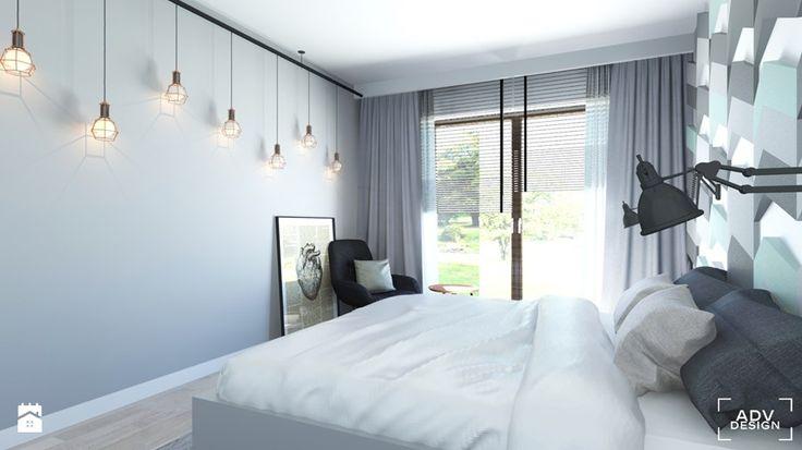Aranżacje wnętrz - Sypialnia: 63 m2 - Średnia sypialnia małżeńska, styl nowoczesny - ADV Design. Przeglądaj, dodawaj i zapisuj najlepsze zdjęcia, pomysły i inspiracje designerskie. W bazie mamy już prawie milion fotografii!