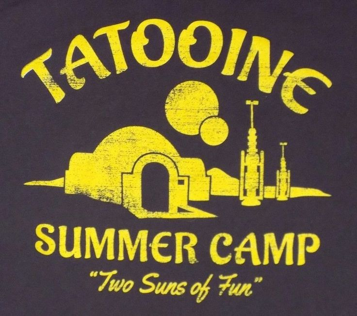 Star Wars Tatooine Summer Camp Large Brown T Shirt Funny Jedi Sith  #BustedTees #GraphicTee