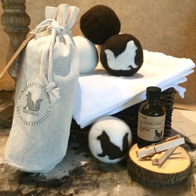 Little Fox Pure Wool Dryer Balls - THE alternative to chemical dryer sheets. Biodegradable, hypo-allergenic, non-toxic. Reduce drying time by 25 - 35%.