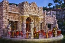 Patio area of the Ruinas Del Mar restaurant at Hyatt Regency Aruba