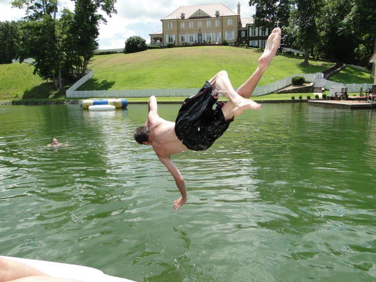 free falling! Smith Mountain Lake