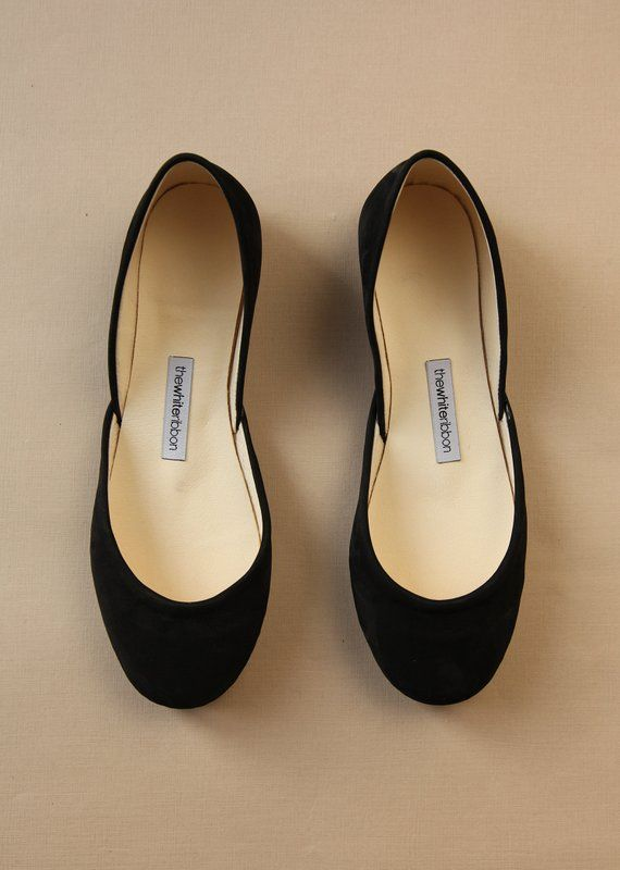 b0eeae3d290 The Nubuck Ballet Flats in Black Ballerina Style Shoes