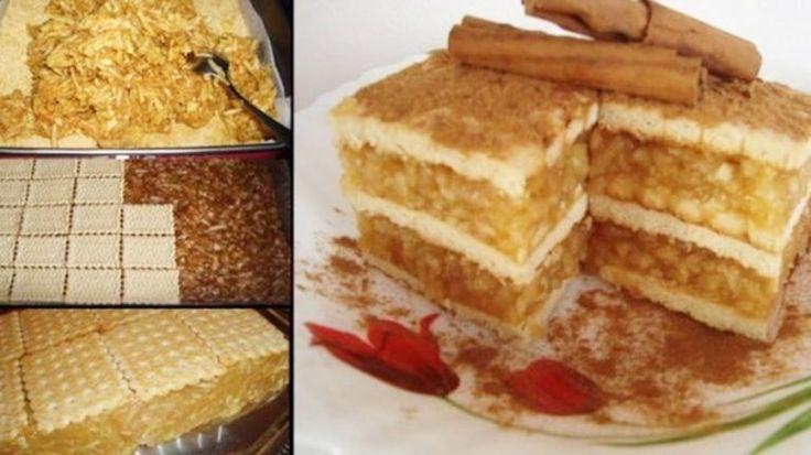 Prajitura cu biscuiti, mere si budinca. Cea mai apetisanta prajitura - foarte simplu de facut. Uite cum o poti face si tu chiar acum - dr. Andrei Laslău