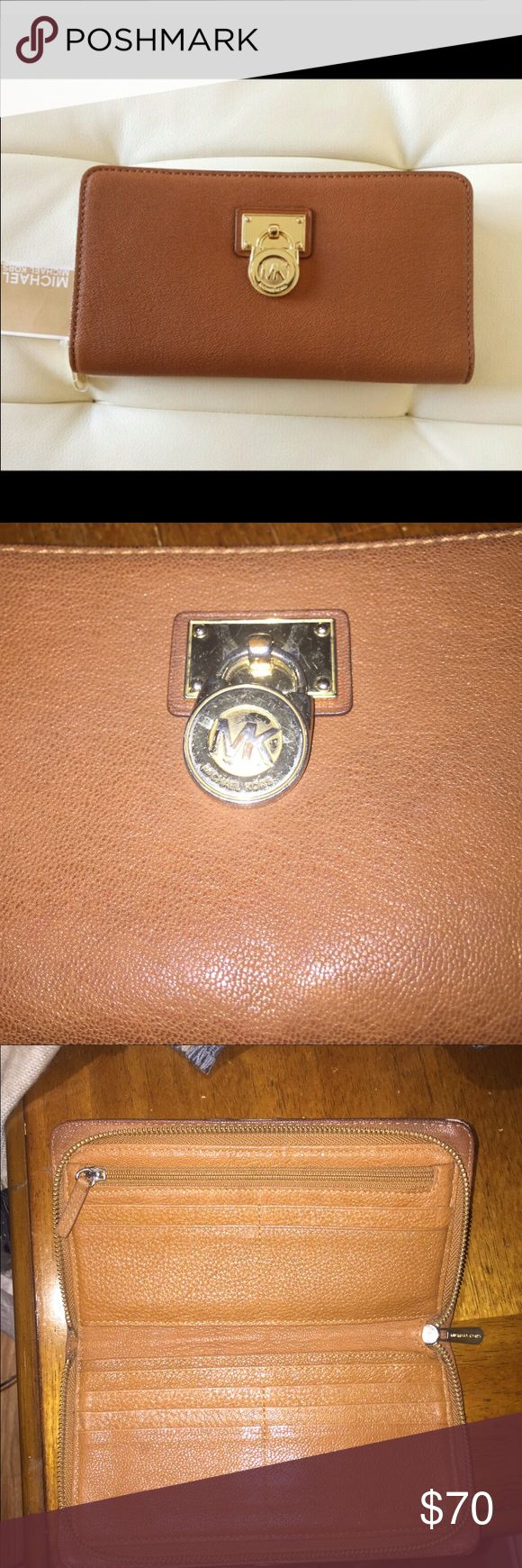 Michael kors hamilton wallet Gently used. Real leather. Shows some imperfections however still in great condition!!!! Michael Kors Bags Wallets