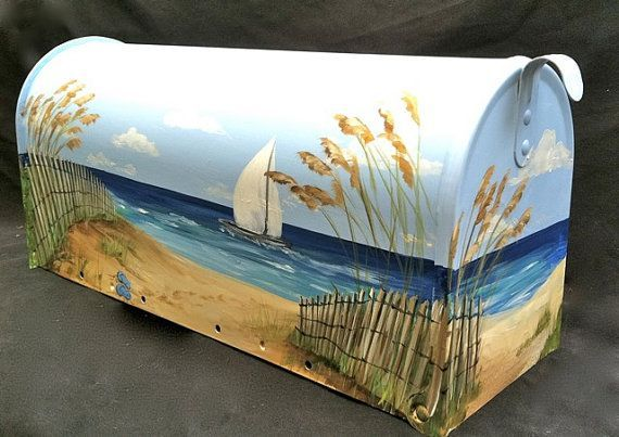 painted mailbox ideas | Hand Painted Mailbox Extra Large Size