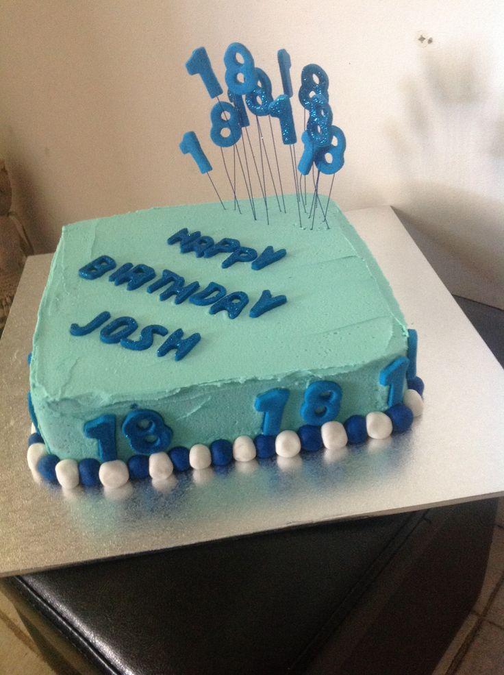 Boys 18th cake