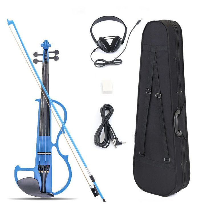 4/4 Size Basswood Electric Violin Alloy String Headphone With Case For Violin Beginner Sale - Banggood.com