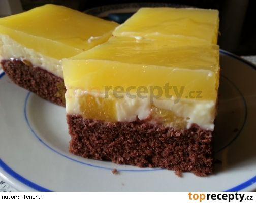 Ananasový pudinkový moučník