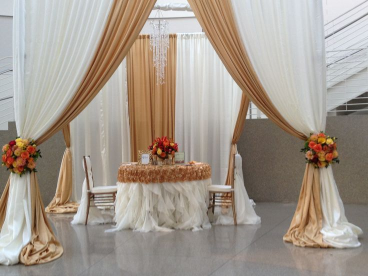 Complete your wedding decor with custom linens from Fine Linen Creations for custom mandaps, draping, and table settings. Contact Terry at 408-216-9512 or 408-891-1676 or terry@finelinencreation.com