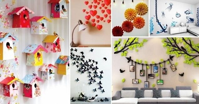 Artistic Colourful Wall Hangings Holi Decoration Ideas Paper