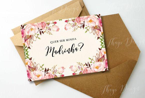 Convite Madrinha (Digital)