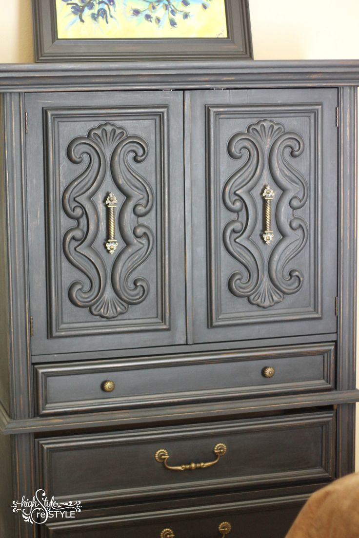 Sonja used the reclaim paint color pebble by caromal colours a - Armoire Painted In Van Gogh Fossil Paint S Revenge Check Out More Restyled Furniture At Http