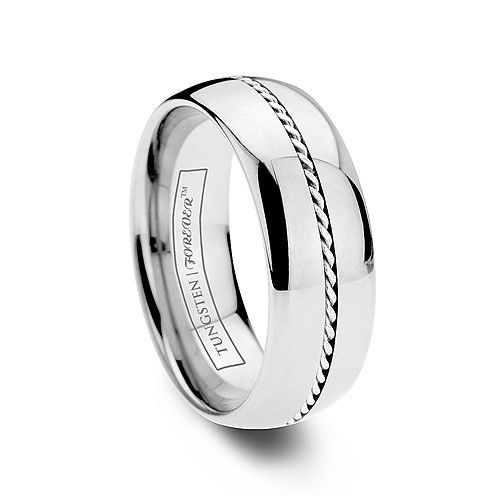 PTOLEMY 6MM / 8MM   This unique ring is inlaid with a pure 950 Platinum inlay woven by hand. The platinum