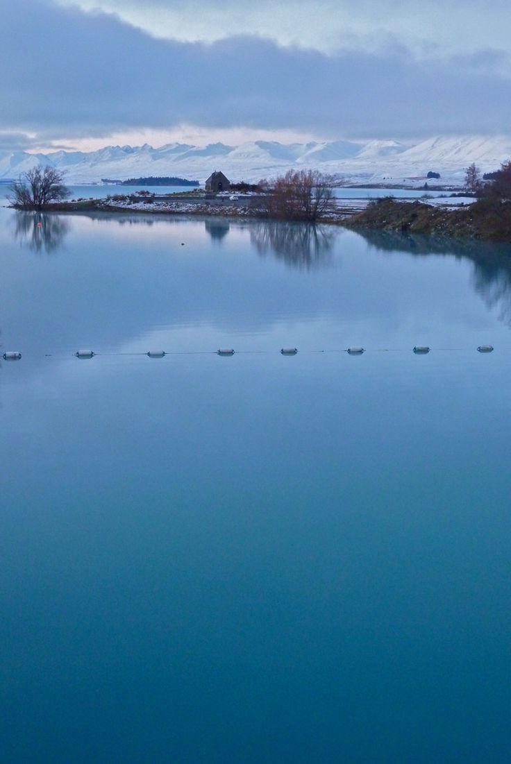 Lake Tekapo, New Zealand. Winter.