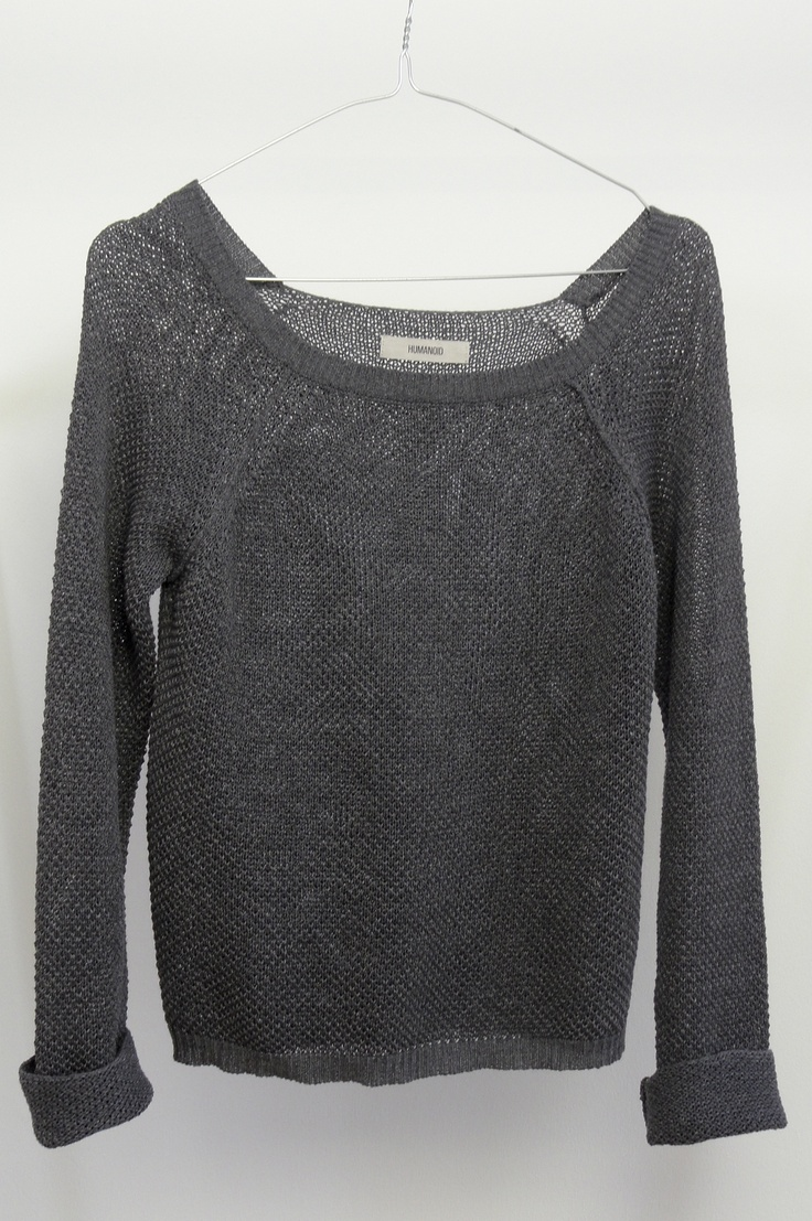 Humanoid : cotton knitGray Clothing, Layered Sweaters, Cotton Knits, Sweaters Seasons, Knit Sweaters, Knits Fashion, Boyfriends Sweaters, Grey Tops, Knits Sweaters