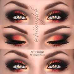 red and gold eyeshadow looks - Google Search