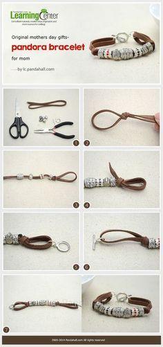 Comment faire un bracelet en cordon daim personnalisé avec des perles Pandora