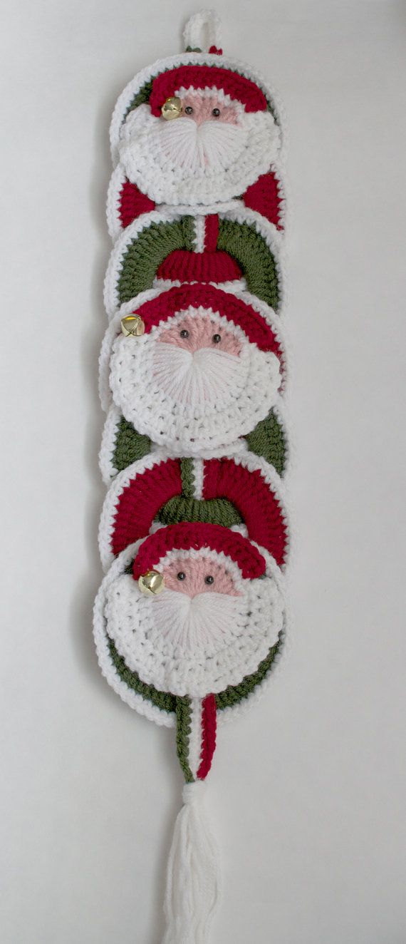 Christmas Crochet Pattern Instant Download Santa Wall