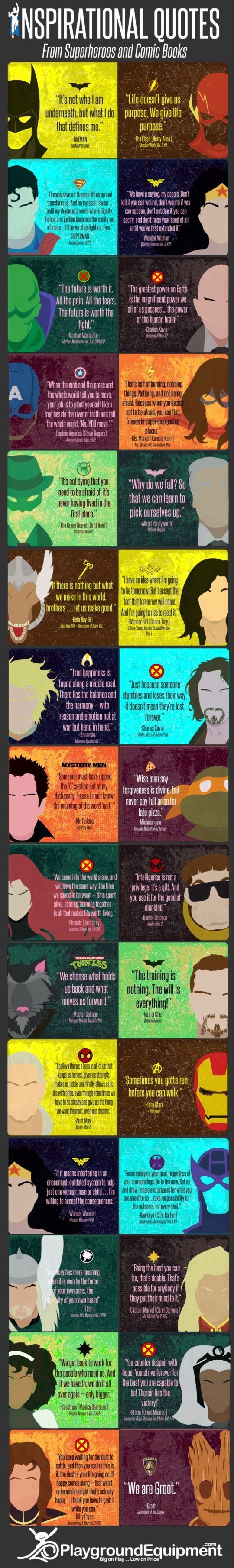 Powerful quotes from comic books #infographic