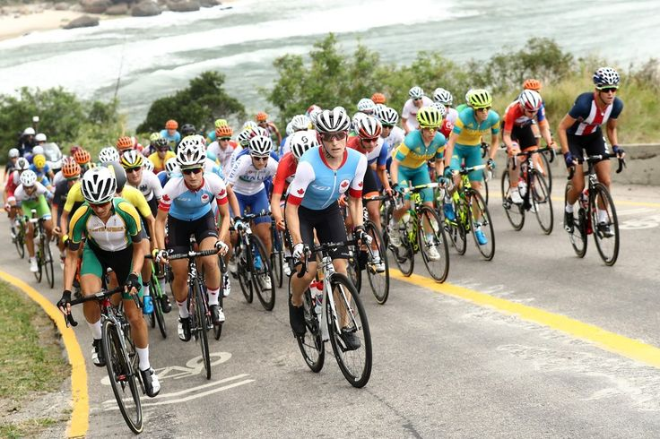 The peleton rides during the women's road-cycling race at the Rio 2016 Olympic Games on Sunday. Anna van der Breggen of the Netherlands won the gold medal.