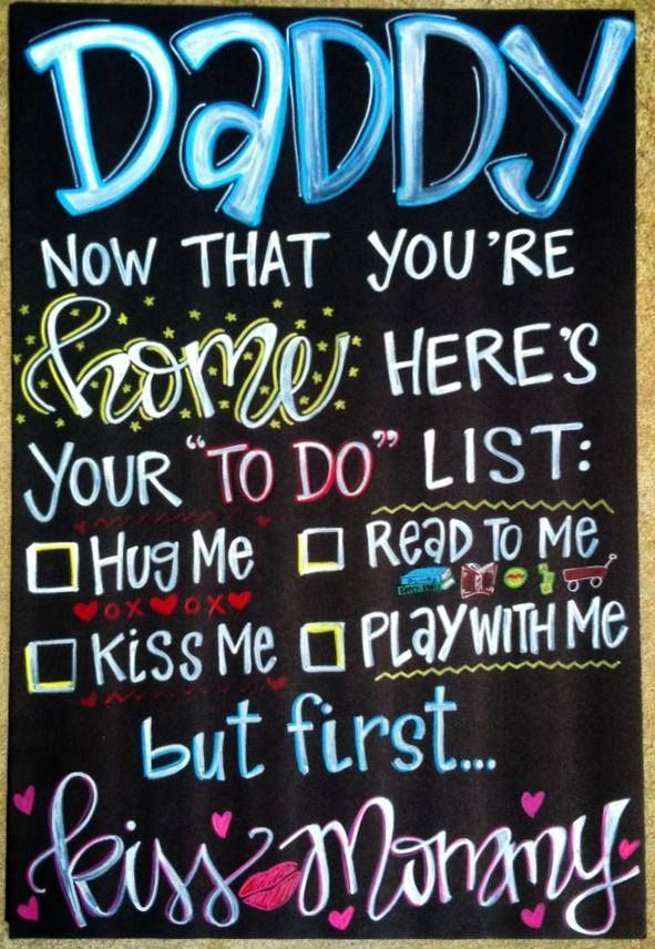 Military Homecoming Chalkboard Sign / Deployments Over / Welcome Home / Support …