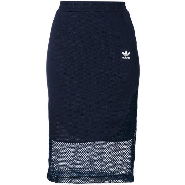 Adidas Originals Osaka midi skirt ($85) ❤ liked on Polyvore featuring skirts and adidas originals