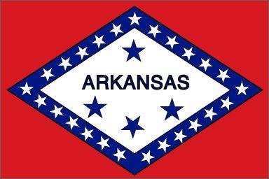 shape around the word arkansas and blue stars signifies arkansas ...