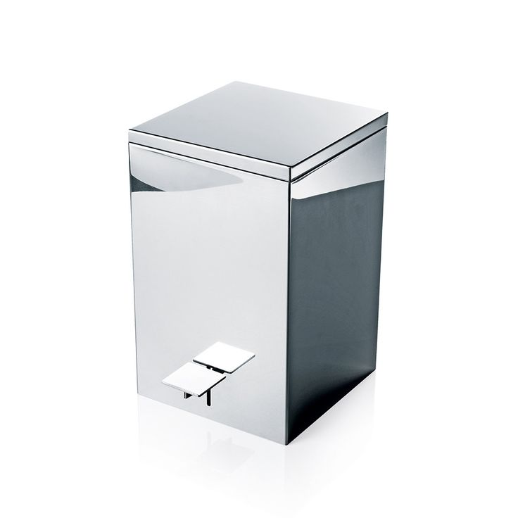Decor Walther - TE 70 Pedal Bin - Polished Stainless Steel