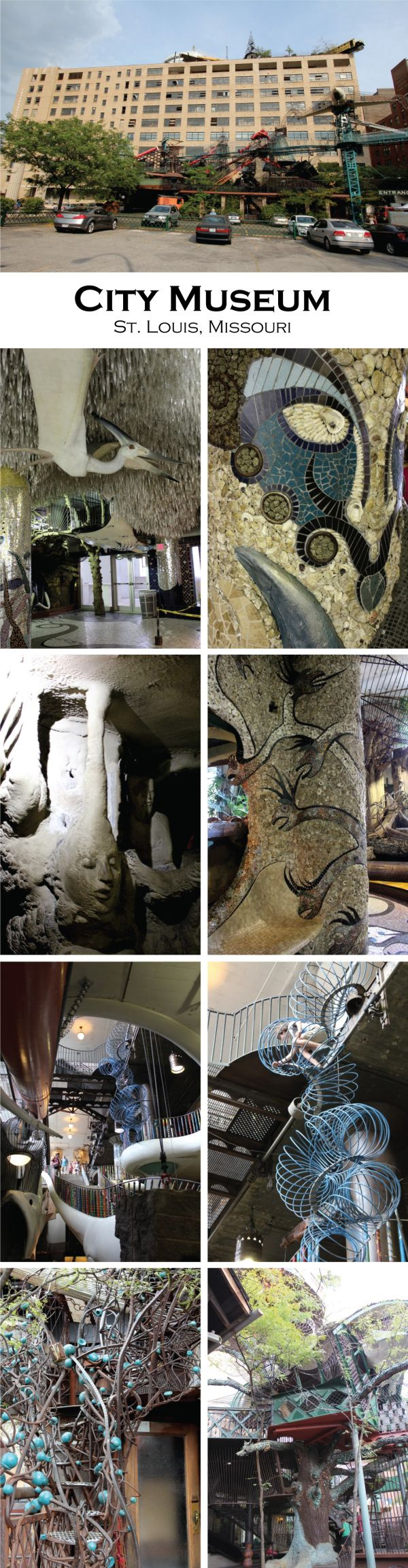 City Museum, St. Louis. There's a few kids I know who'd love this.. I love it and look at me, I'm 17! So much details.