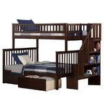 <strong>Woodland Twin over Full Bunk Bed with Storage</strong> by Atlantic Furniture
