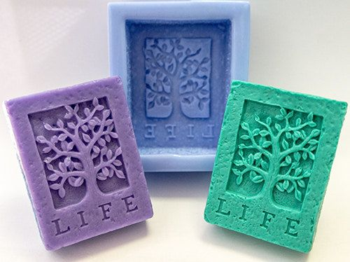 Life tree soap mold silicone molds mold for soap mold by GoodMolds, $6.99