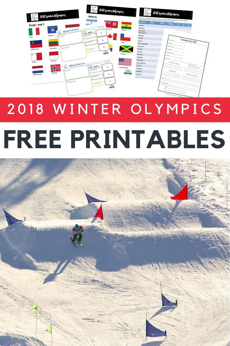 19 pages of free printable resources to help you follow the 2018 Winter Olympics | #printables #homeschool #homeschooling #homeschooltip