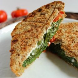 Tangy goat cheese and fresh pesto are a match made in heaven ...