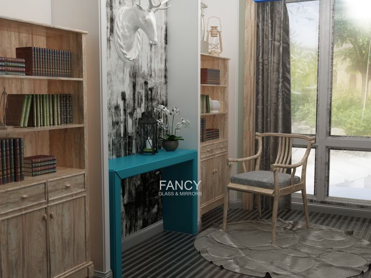 Our Sidanni mirrored console table is stunning work of art. All elements are cut from green frosted mirror and the distinctive detail of it is printed design placed on tabletop. The Color and texture of this material allows you to get beautiful piece of furniture along with stunning decor item.