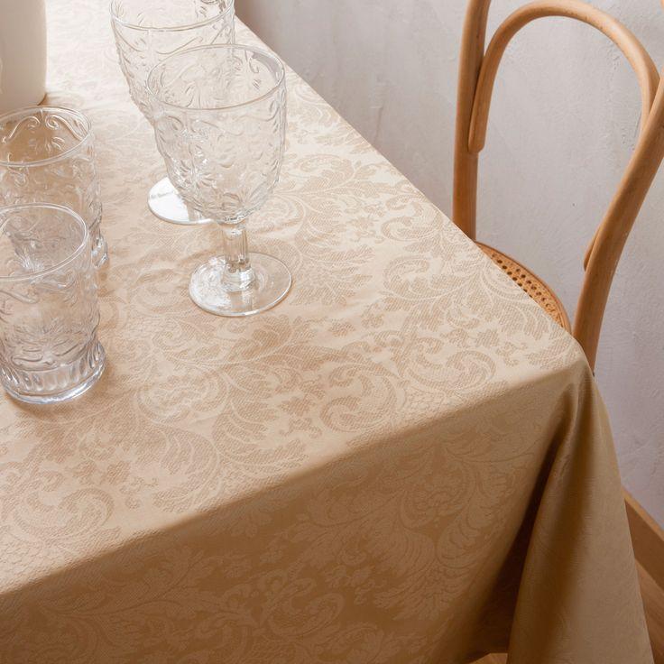 Mantel Plastificado Jacquard Color Dorado - REBAJAS | Zara Home España